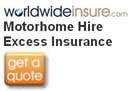 Motorhome and Campervan Hire Excess Insurance from Worldwideinsure.com logo